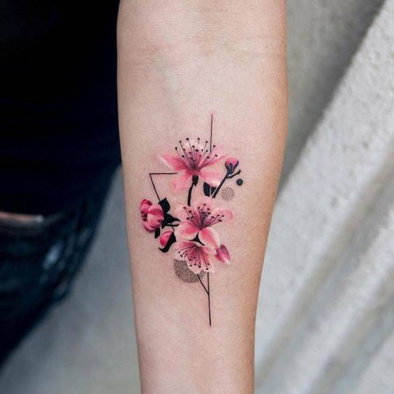Цветы. Предплечье