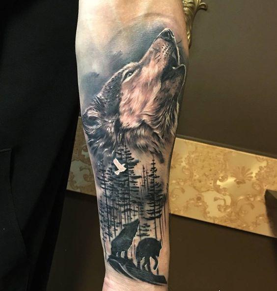 Вовк тату – Татуировка волка: значение, эскизы | 593x564