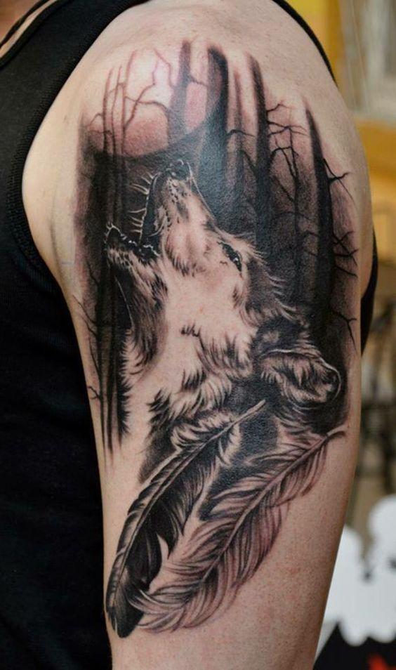 было помадой фото татуировок волк воющий на луну один древнейших городов