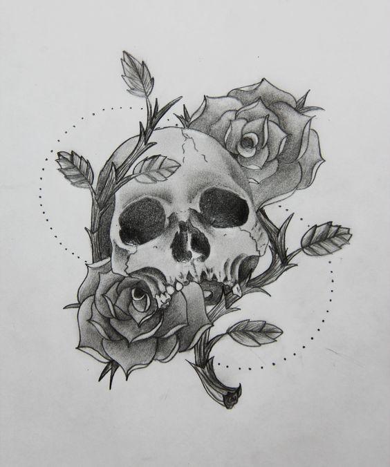 рисунки с черепами и розами главные второстепенные персонажи