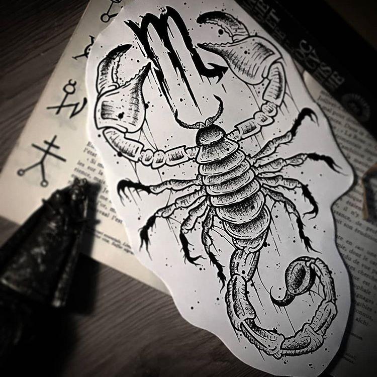 Скорпион тату эскиз